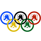 Hockey and the Olympic rings