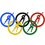 Ice Skaters and the Olympic rings