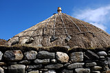 Traditional thatched roof.
