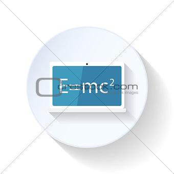 Formula of relativity flat icon