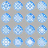 Create snowflake icons on button