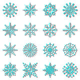 Create snowflake icons with shadow
