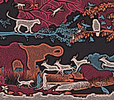 Wildlife woodcut