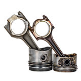 Two pistons and two connecting rods