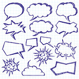 Vector Sketch Background With Speech Bubbles