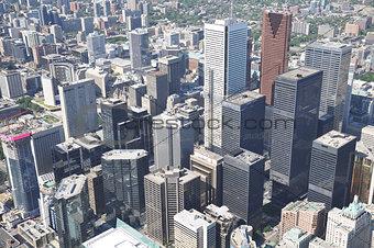 Cityscape of Toronto center.