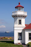 West Coast Lighthouse & Ferry Arriving Puget Sound Washington St