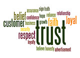 Trust word cloud