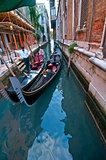 Venice Italy Gondolas on canal
