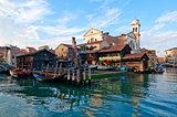 Venice Italy San Trovaso squero view