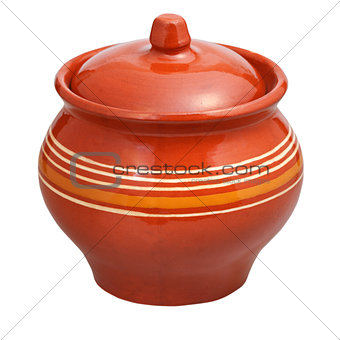 closed earthenware pot
