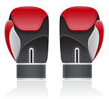 boxing gloves vector illustration