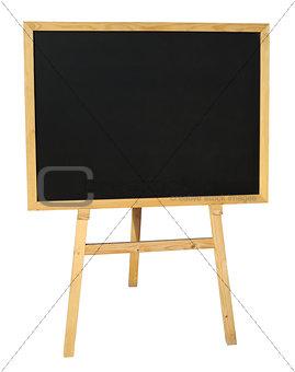 Small empty black wooden blackboard