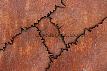 abstract rusty metal pattern
