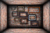 collection of frames in abstract backdrop