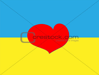 Flag of Ukraine. Vector