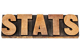 stats in wood type with numbers