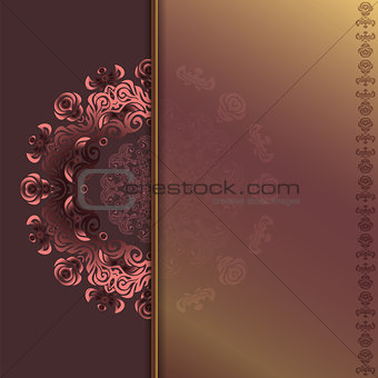 card with abstract roses pattern
