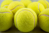 Tennis Balls Formation Close-Up