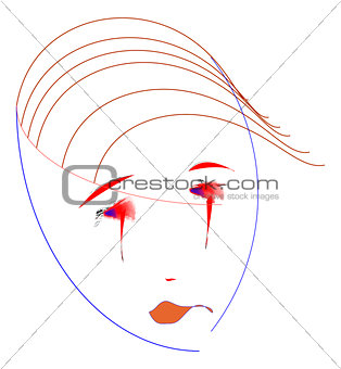 Abstract  portrait of a woman.