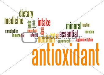 Antioxidant word cloud