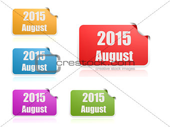 August of 2015