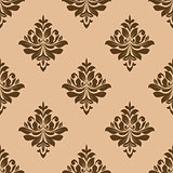 Vintage wallpaper design of floral arabesques