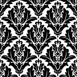 Bold black and white arabesque pattern design