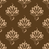 Floral motif repeat seamless pattern