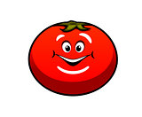 Cute fat juicy cartoon tomato vegetable