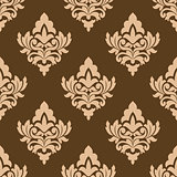 Seamless pattern with floral arabesques