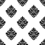 Floral arabesque motifs seamless pattern