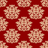 Red damask style arabesque pattern
