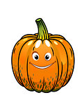 Smiling cartoon fall pumpkin