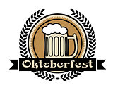 Oktoberfest beer icon or label