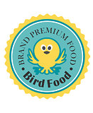 Premium bird food icon