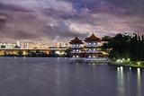 Singapore Chinese Garden at Dusk