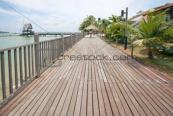 Changi Point Boardwalk in Singapore