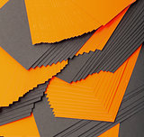 Black and orange sheets paper