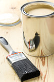 paint brush and tin can