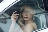 fashion woman in a car