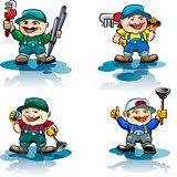The plumber icon set