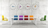 Colorful conference room