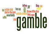 Gamble word cloud