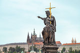 Sculpture in the Charles Bridge, Prague.