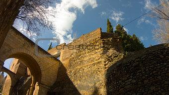 Alhambra castle under the bridge