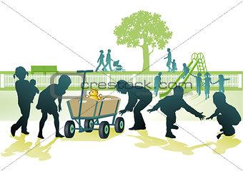 Playground with children