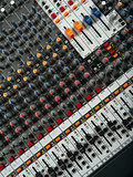 Recording studio mixing board