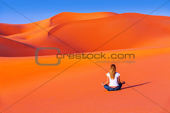 Meditation in desert