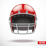 Realistic American football helmet. Vector sport illustration